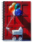Baby Buggy With Balloons  Spiral Notebook