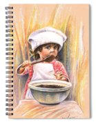 Baby Cook With Chocolade Cream Spiral Notebook