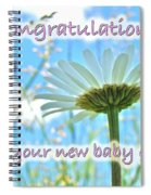 Baby Girl Congratulations Greeting Card - Oxeye Daisies Spiral Notebook