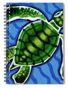 Baby Green Sea Turtle Spiral Notebook