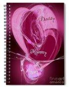 Baby Makes 3 Spiral Notebook