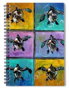 Baby Sea Turtles Six Spiral Notebook