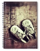 Baby Shoes On Wood Spiral Notebook