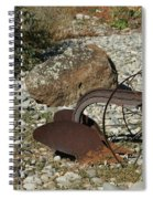 Back Half Of Old Plow Spiral Notebook