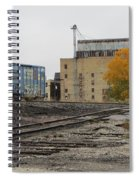 Back Of Warehouse Train 2 Spiral Notebook