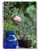 Back Yard Roses Spiral Notebook