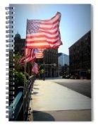 Backlit Flag Spiral Notebook