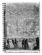 Baden-baden: Salon, 1858 Spiral Notebook