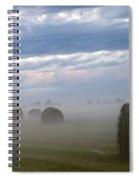 Bails In Fog Spiral Notebook