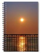 Balcony Sunrise Spiral Notebook