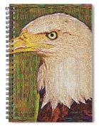 Bald Eagle Embroidered Spiral Notebook