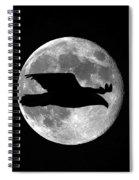 Bald Eagle Moon Spiral Notebook