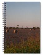 Bales In Peanut Field 1 Spiral Notebook