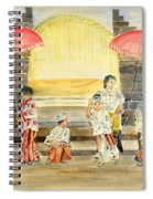 Balinese Children In Traditional Clothing Spiral Notebook