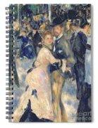 Ball At The Moulin De La Galette Spiral Notebook