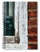 Ball Jar And Lace Spiral Notebook