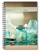 Ball Jars And White Rooster Spiral Notebook