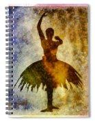 Ballerina 1 With Border Spiral Notebook