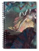 Ballerina And Lady With A Fan Spiral Notebook