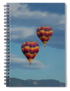 Balloons Over The Rockies Painterly Spiral Notebook