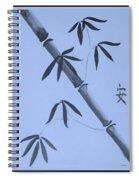 Bamboo Art In Cyan Spiral Notebook