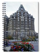Banff Springs Hotel In The Canadian Rocky Mountains Spiral Notebook