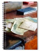 Bank Checks Dated 1923 Spiral Notebook
