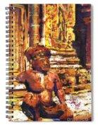 Banteay Srei Statue Spiral Notebook