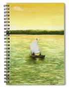 Bar Harbor Sailboat Spiral Notebook