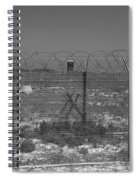 Barbed Wire Fence Spiral Notebook