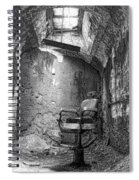 Barber - Chair - Eastern State Penitentiary - Black And White Spiral Notebook