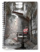 Barber - Chair - Eastern State Penitentiary Spiral Notebook