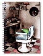 Barber Shop Spiral Notebook
