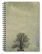 Bare Tree. Vintage-look. Auvergne. France Spiral Notebook