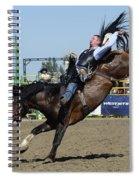 Rodeo Bareback Riding Spiral Notebook