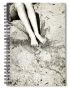 Barefoot In The Sand Spiral Notebook