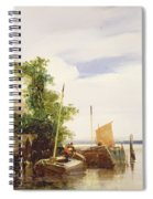 Barges On A River Spiral Notebook