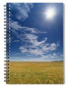 Barley Field Near Airdrie, Alberta Spiral Notebook
