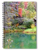 Barn And Pond In The Fall Spiral Notebook