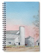 Barn And Sycamore Spiral Notebook