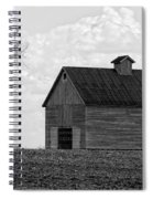 Barn And Tree In Black And White Spiral Notebook