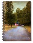Barn Behind The Gate Spiral Notebook