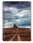 Barn In Lightning Storm Spiral Notebook