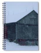 Barn In Winter Spiral Notebook