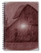 Barn Snow Globe Spiral Notebook