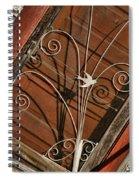 Barn Swallow Gracing Historial Train Station Door Spiral Notebook