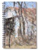 Barn Through Trees Spiral Notebook