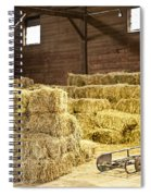 Barn With Hay Bales Spiral Notebook