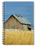Barn With Stormy Skies Spiral Notebook