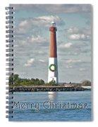 Barnegat Lighthouse - New Jersey - Christmas Card Spiral Notebook